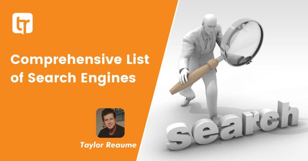 Comprehensive List of Search Engines