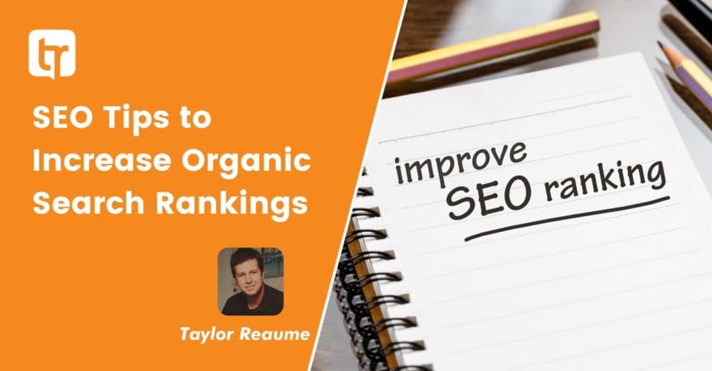 5 free SEO Tips to Increase Organic Search Rankings