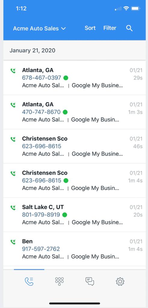 Call Rail Call Tracking Call Reporting Mobile App